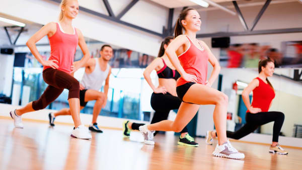Legs, bums and tums exercise session