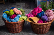 image of wool in baskets