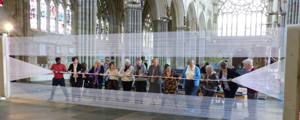 Stretch Art Installation at Exeter Cathedral