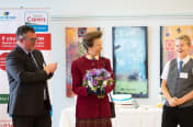 Photo: Matthew Byrne, Westbank Community Health and Care Chief Executive, Her Royal Highness The Princess Royal and young carer Luke Barnett